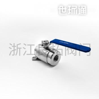 不锈钢二片式锻压球阀 Q11F-160P  两片式锻件球阀