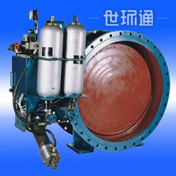 蓄能器式液控缓闭止回蝶阀 DX7K41X型