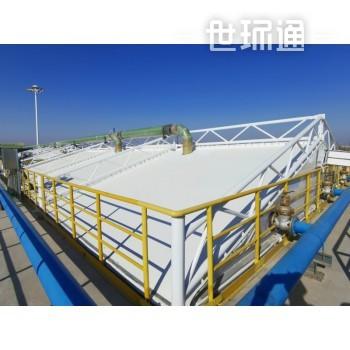 宁夏石化污水升级改造区域罐体密闭反吊膜工程