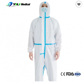 Headgear without foot cover Waterproof Full Body Icu Disposable Work Overalls