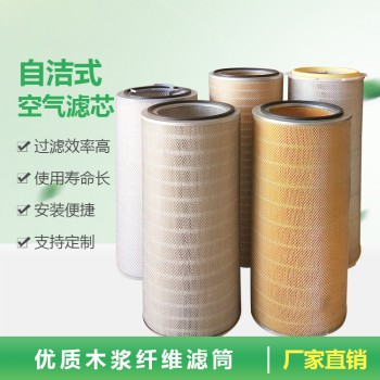 纸质自洁式空气除尘滤筒