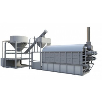 高温高速污泥连续碳化系统