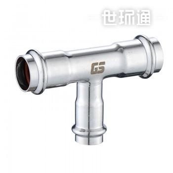 GOSUNG/革升 304不锈钢管件 双卡压式异径三通
