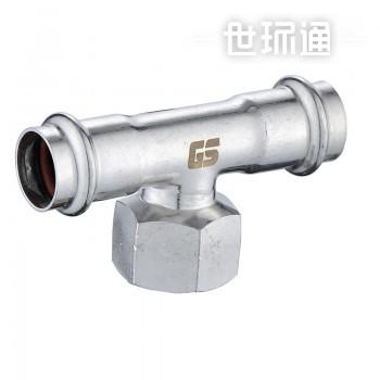 GOSUNG/革升 304不锈钢管件 双卡压式内丝三通/内牙三通
