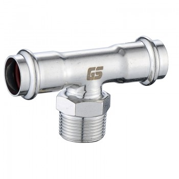 GOSUNG/革升 304不锈钢管件 双卡压式外丝三通/外牙三通