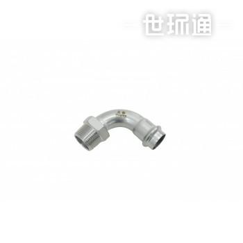 不锈钢双卡管件-外螺纹90度转换弯头