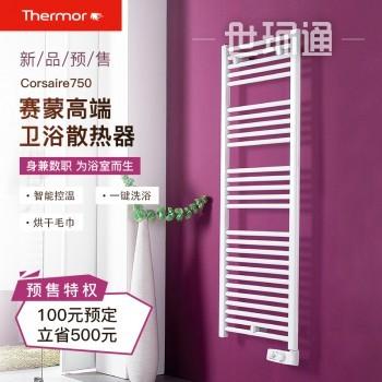 赛蒙原装进口浴室卫生间散热器电热毛巾架烘干架取暖器暖气片