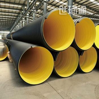 圣大hdpe双壁波纹管,钢带增强聚乙烯螺旋波纹管