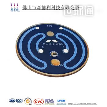 SDL1210稀土厚膜发热盘/片电动充电便携式咖啡机发热膜发热片