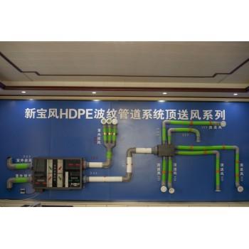 新宝风HDPE波纹管道顶送风系列