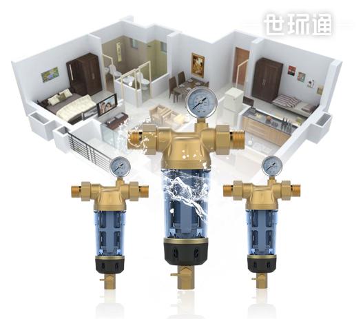 家用前置过滤器净水器无需换芯40微米反冲洗中央全屋净化