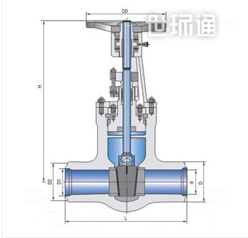 高温高压焊接式手动闸阀