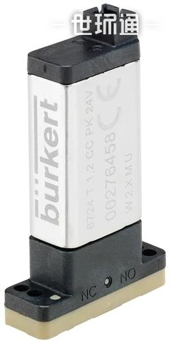 类型 6724 - 2 位 2 通或 2 位 3 通静音阀,带介质隔离装置