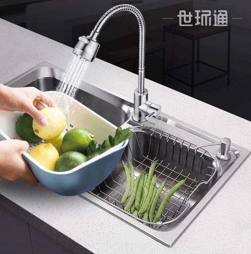 不锈钢洗菜盆洗碗盆洗碗池冷热水龙头 360°万向龙头