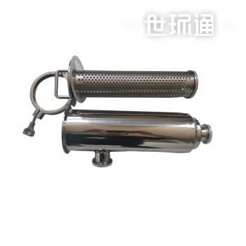 不锈钢管道过滤器 水处理过滤器 下进上出快卡接口