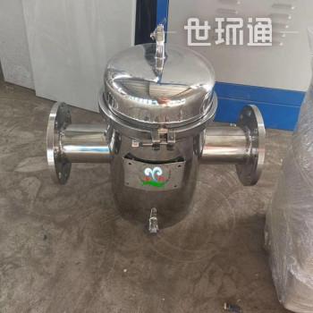 快开毛发过滤器河北 毛发聚集器盈都销售 YDSL-150铸钢蓝式除污器