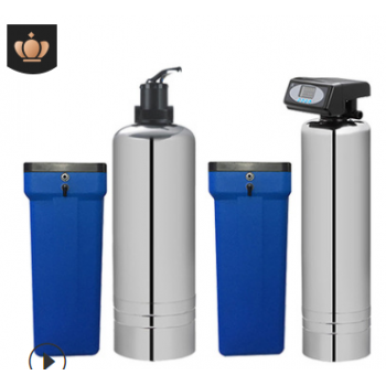 不锈钢大流量软化水机锅炉去除水垢家用别墅全屋净水器