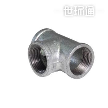 镀锌玛钢正三通 90度弯头铁三通管件 镀锌三通玛钢件接头