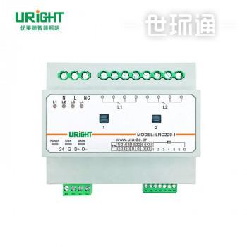 学校教师智能照明控制系统2回路开关控制模块带电流监测