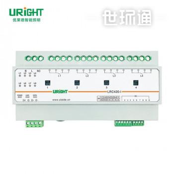 办公楼智能照明灯控系统4回路开关输出模块带电流电压检测