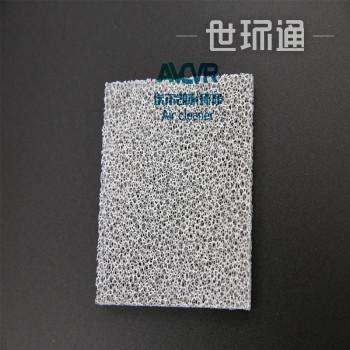 二氧化钛板定制 除甲醛光催化滤网 光触媒泡沫镍过滤网