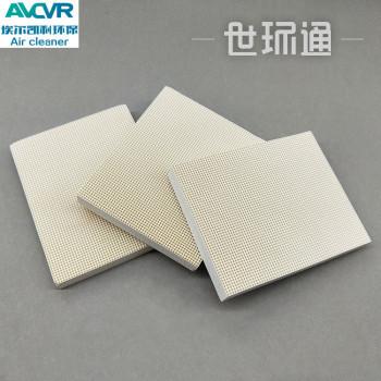 工业废气处理定制UV光解纳米二氧化钛光催化板蜂窝陶瓷光触媒过滤网