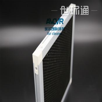 活性炭吸附设备铝箔网活性碳空气过滤网工业废气处理活性炭金属基材过滤网